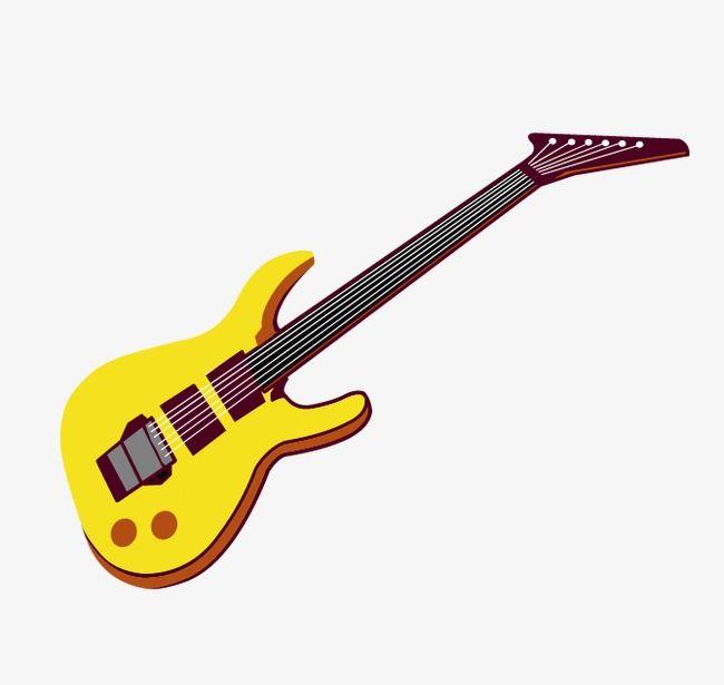 Guitarra, Guitarra Amarelas, A Música, Instrumentos MusicaisPNG e Vector