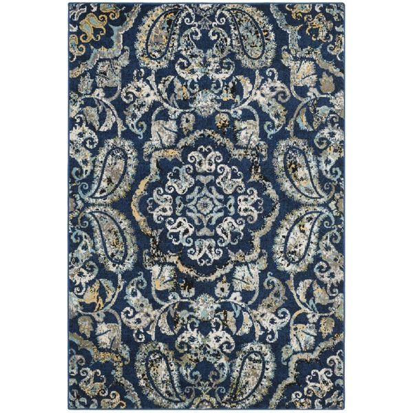 Safavieh Evoke Vintage Royal Blue Ivory Distressed Rug 8