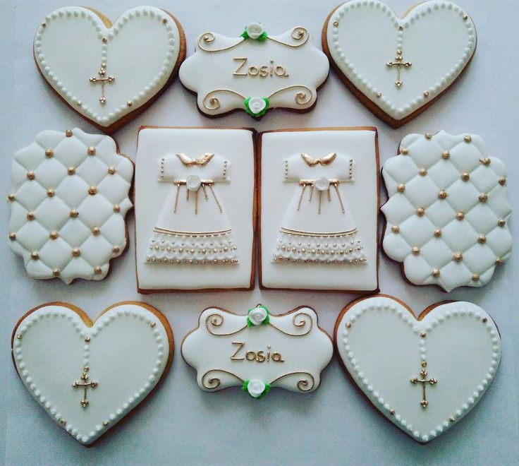 First communion cookies set; cookie artist Żaneta Tomczak