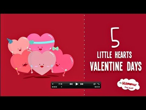 ▶ Valentine's Day | 5 Little Hearts Valentine Song - YouTube