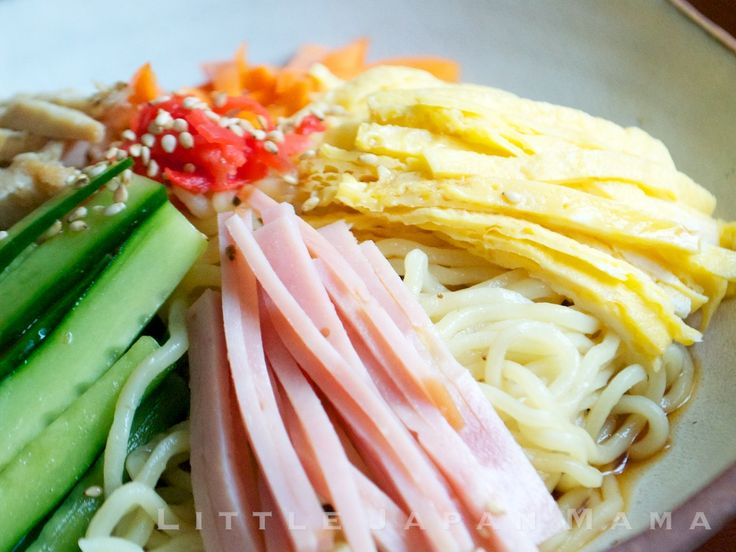 Hiyashi Chuka (Cold Ramen Noodles) Recipe  冷やし中華 Hiyashi Chuka Sauce (recipe below) Fresh Ramen noodles, prepared Your choice of ...