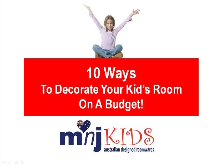 A MUST SEE for any parent. In Under 3 minutes see our special video 10 ways to decorate your kids room on a budget. Go to www.mnjkids.com then click/tap the FREE GIFT text at the top.