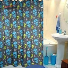 Punk Fantasy Skull Bathroom Fabric Shower Curtain Free 12 Hooks New Home Decor