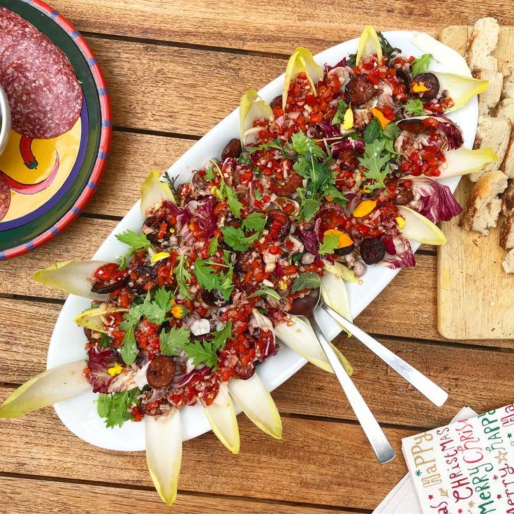 Squid & chorizo salad. 🦑🥗👌🏽