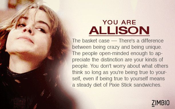 I took Zimbio's 'Breakfast Club' quiz and I'm Allison! Who are you? #ZimbioQuiznull - Quiz