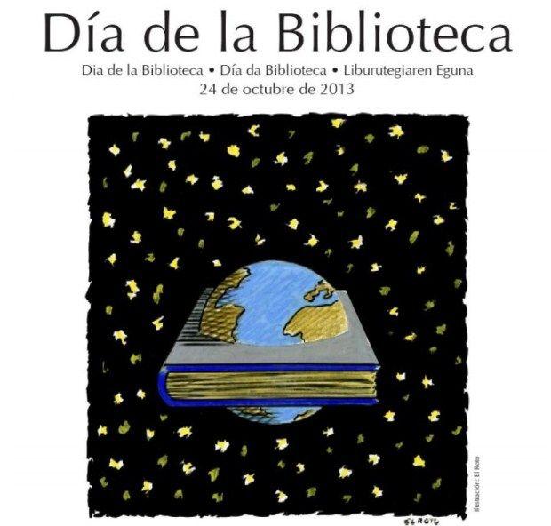 Día de la Biblioteca 2013: Pregón de Laura Gallego y cartel de El Roto #diadelabiblioteca
