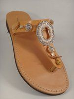 White Circle Stras In Cross Sandal Love these sandals
