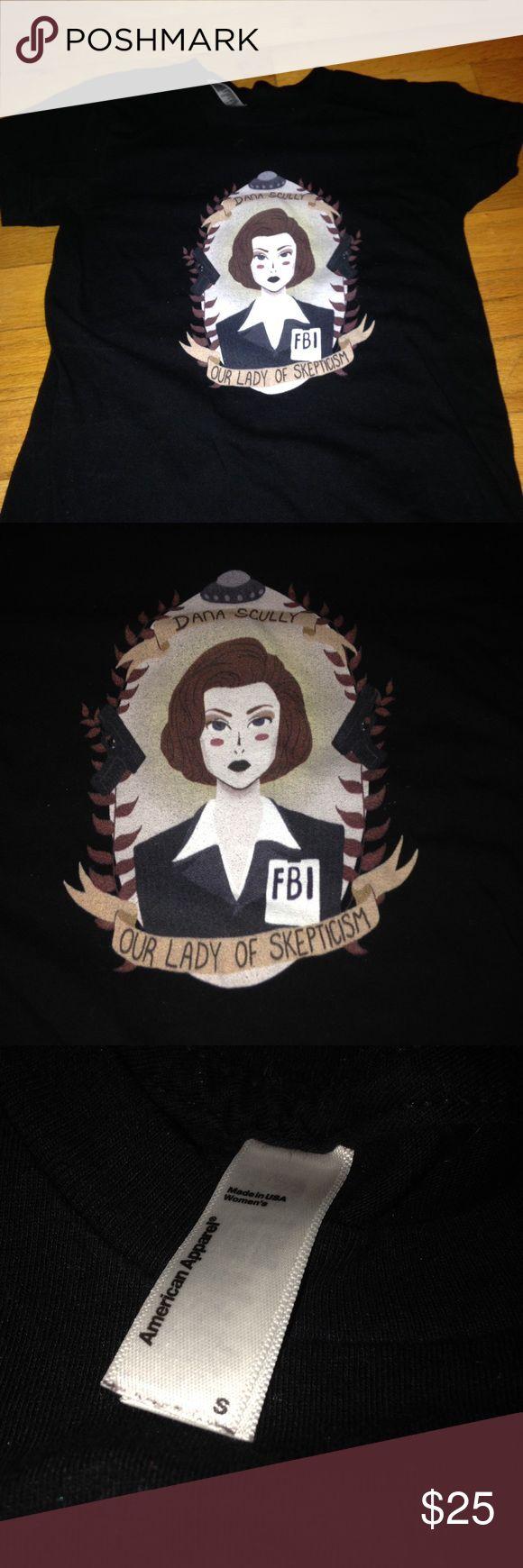 Dana Scully shirt Dana scully fbi txf short sleeve shirt American Apparel Tops Tees - Short Sleeve