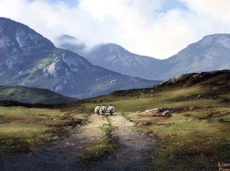 Bog Road Roundstone Bog by Eileen Meagher