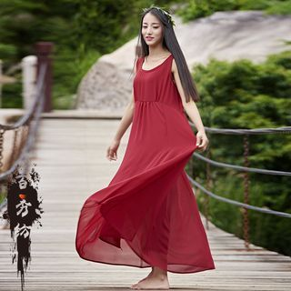 Buy 'EMBRO – Sleeveless Plain Maxi Dress / Slipdress' with Free International Shipping at YesStyle.com. Browse and shop for thousands of Asian fashion items from China and more!