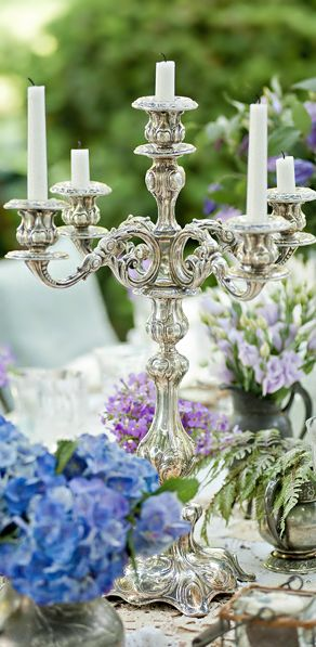Stunning Tablescape in silver