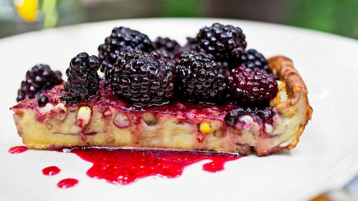 Puffy Corn Pancake With Blackberry Sauce Recipe - NYT Cooking