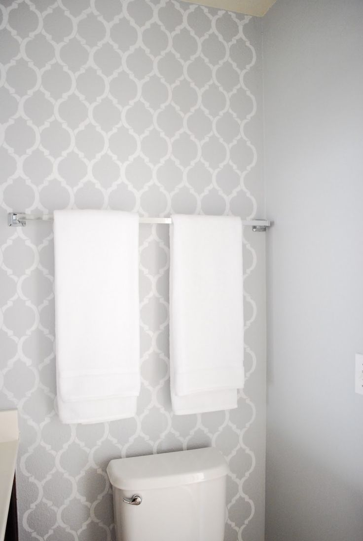Diy Bathroom Makeover Bathroom Wallpaper Grey Toilet