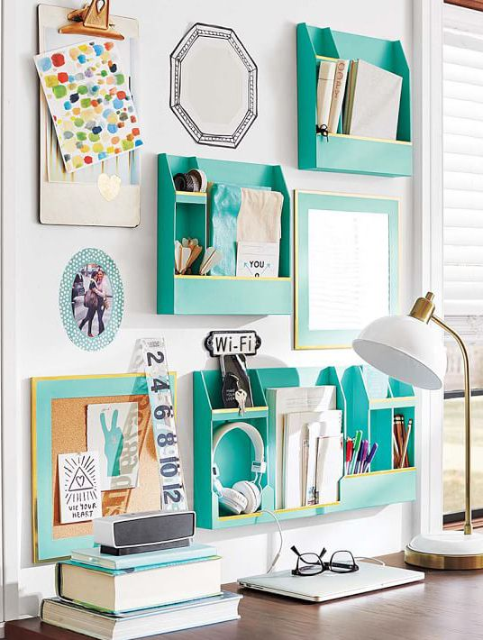 Home Office Wall Organizers For Your Desk So That Theres A Place For Everything Find This Pin And More On Dorm Room Ideas