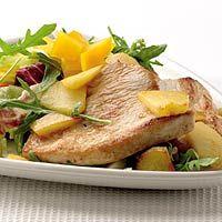 Recept - Lauwwarme salade met appel en kalkoen - Allerhande