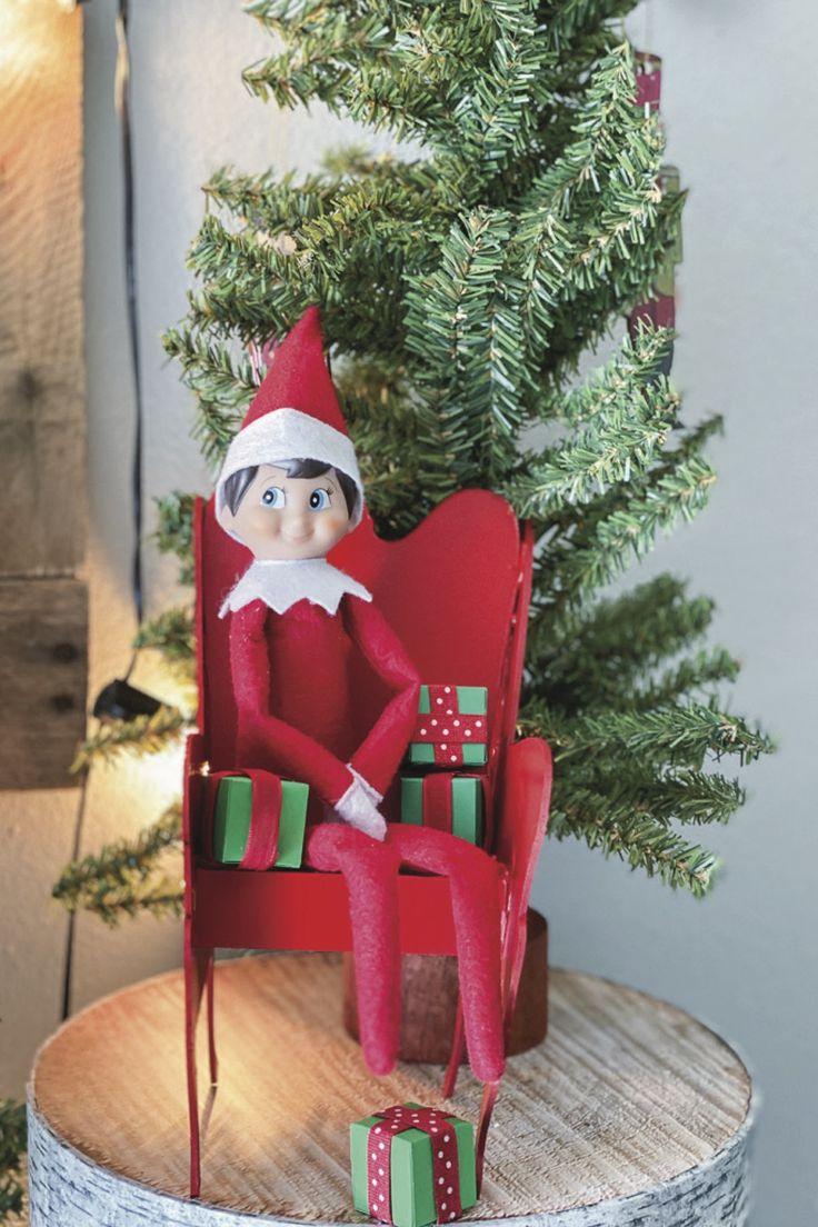 DIY Elf on the Shelf Chair Elf on the shelf, Burlap