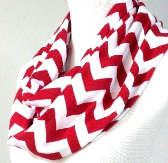 Love this!!!Chevron Infinity Scarves Red Ready to ship Cotton by phatcatpatch, $12.99