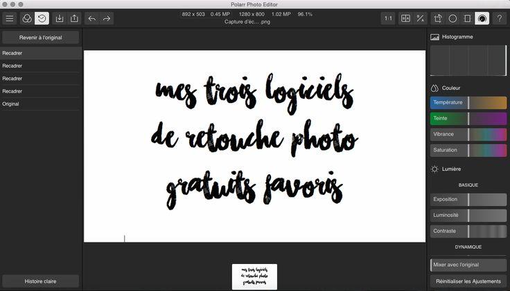 logiciels montage retouche photo gratuit indispensable Deuxaimes Polar photo editor lite