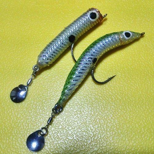 17 best images about soft plastic baits on pinterest for Fly fishing lures for bass