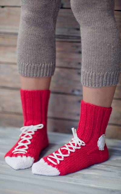 Converse socks, free pattern