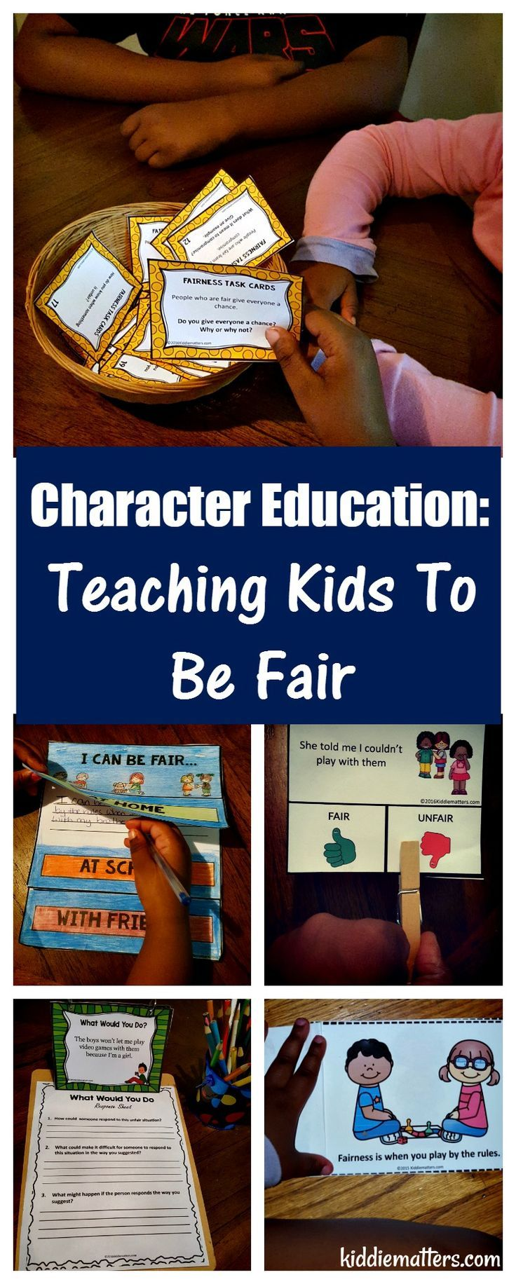 Teaching kids how to be fair helps them maintain positive relationships with others. This resource uses role play scenarios, discussion cards, writing activities, and a fairness social skills story to teach kids how to be fair. Visit TeachersPayTeachers
