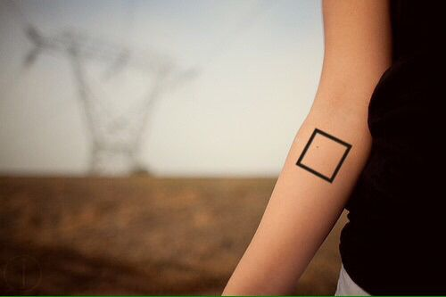 Minimalistic square tattoo