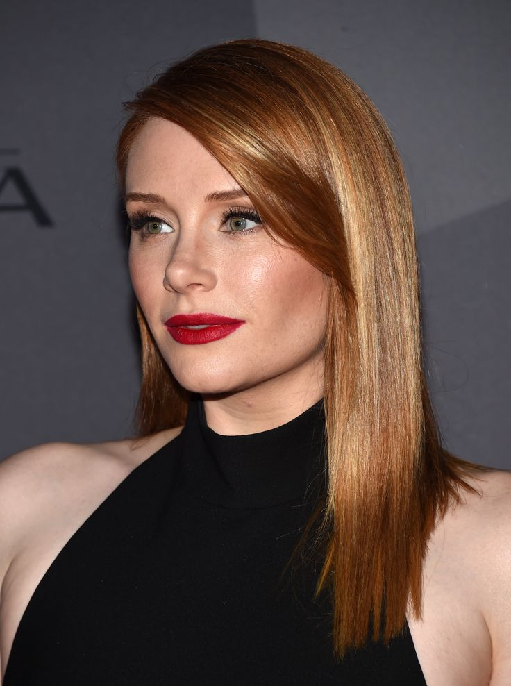 Bryce Dallas Howard wore a striking red lip