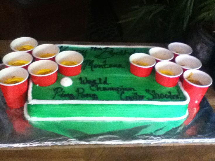 Beer Pong Cake - Half sheet cake, ( Red Velvet)
