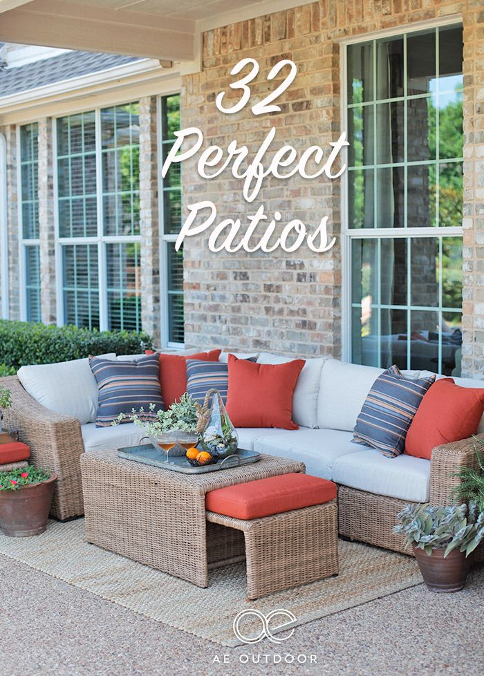 32 Patio Ideas For Your Next Outdoor Space. | We Feel Like The Outdoor  Furniture