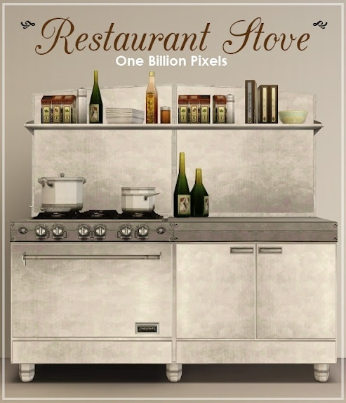 Sims 3 Download: One Billion Pixels: Restaurant StoveRestaurants Stoves, Sims Games, Stoves Sims3, Kitchens Stuff, Download, Plays Sims, Sims Stuff, Billion Pixel, Community Stuff
