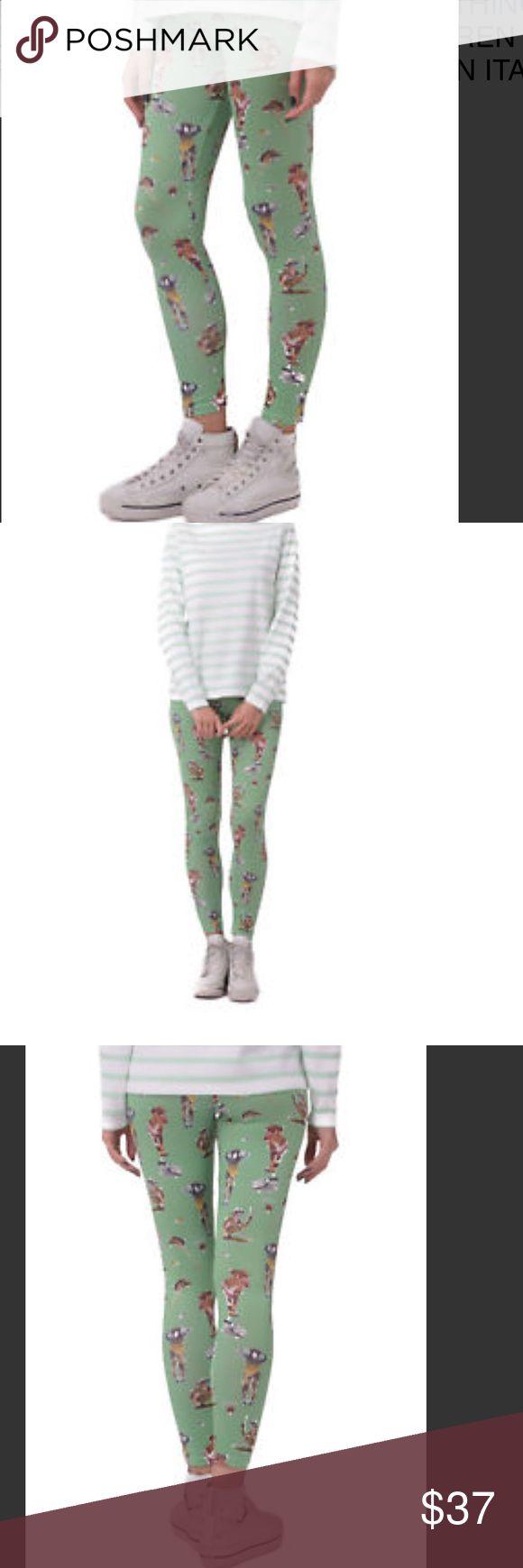 NWT!! DIESEL Leggings DIESEL Size S Women's SKF-LOREN Printed Elasticated Leggings Made in Italy Diesel Pants Leggings