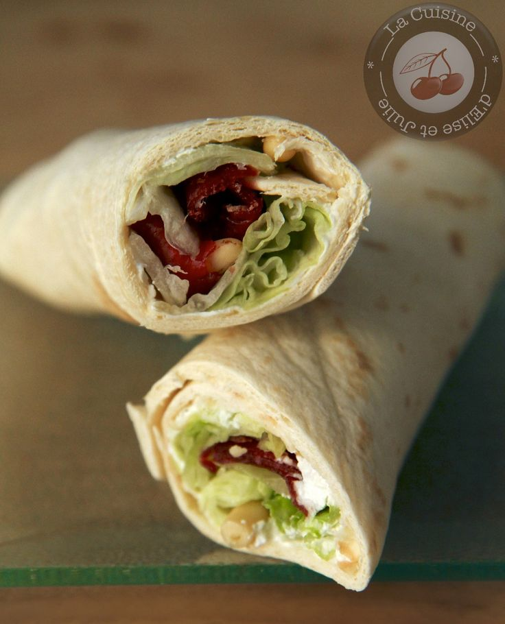 Wraps Salade, Viande de Grison, Chèvre et Pignons de Pin