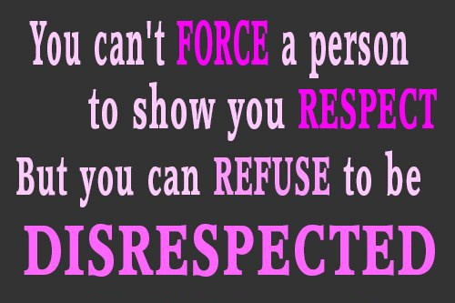 A research on respect and the implications of disrespecting a person