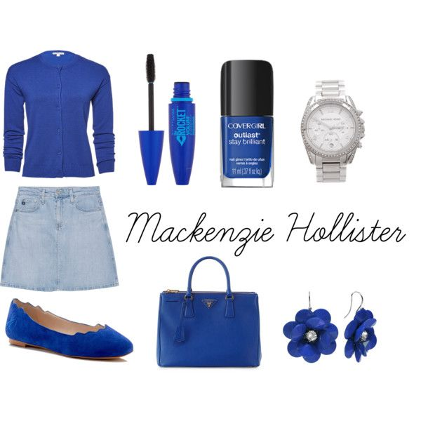 Mackenzie Hollister (from dork diaries) by bugmack on Polyvore featuring AG Adriano Goldschmied, Sam Edelman, Prada, Michael Kors and Maybelline