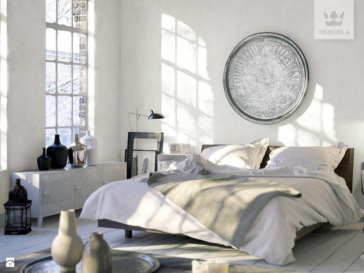 Salon w odcieniu off-white. - zdjęcie od Tikkurila - Sypialnia - Styl Minimalistyczny - Tikkurila