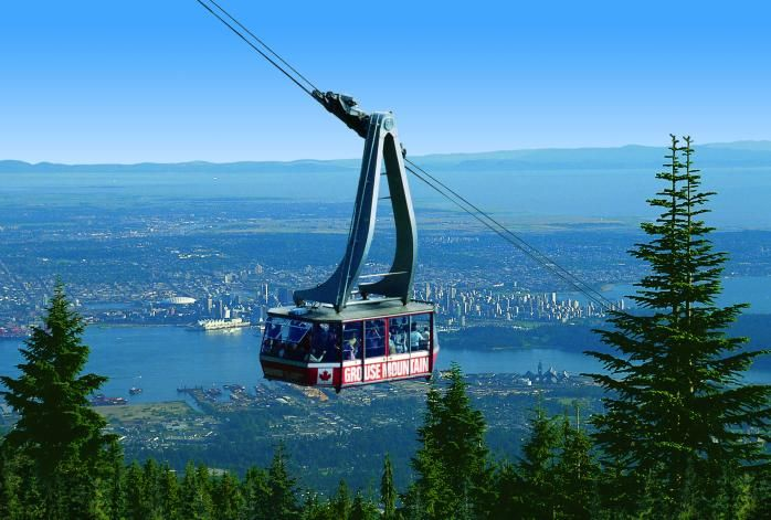 Grouse Mountain Gondola view of Vancouver, BC  I grew up at the foot of this mountain.  I remember watching this gondola being built.