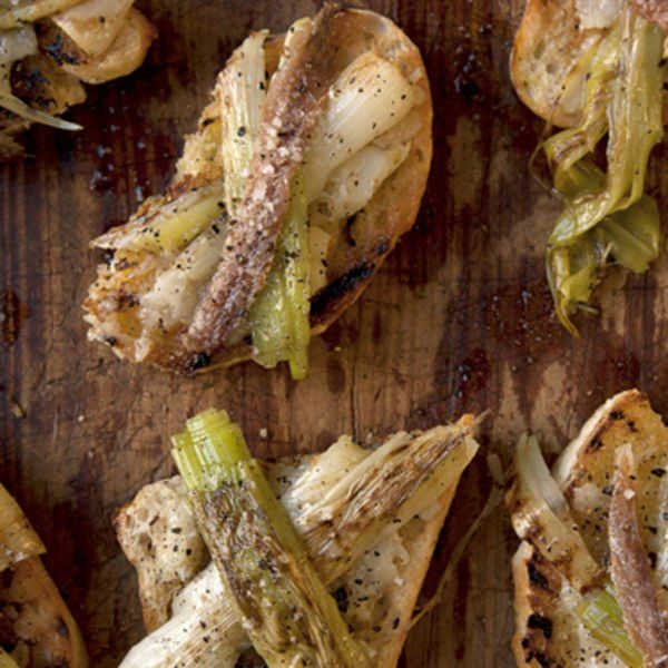 Grilled Leeks and Stewed Garlic on Toast Recipe | SAVEUR