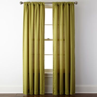 JCPenney Home™ Rialto Rod-Pocket/Back-Tab Curtain Panel - JCPenney: