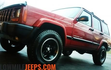 Low Mile Jeeps for Sale » 1999 Jeep Cherokee Sport 4.0L 4×4 82K Low Miles Chilli Pepper Red Pearl