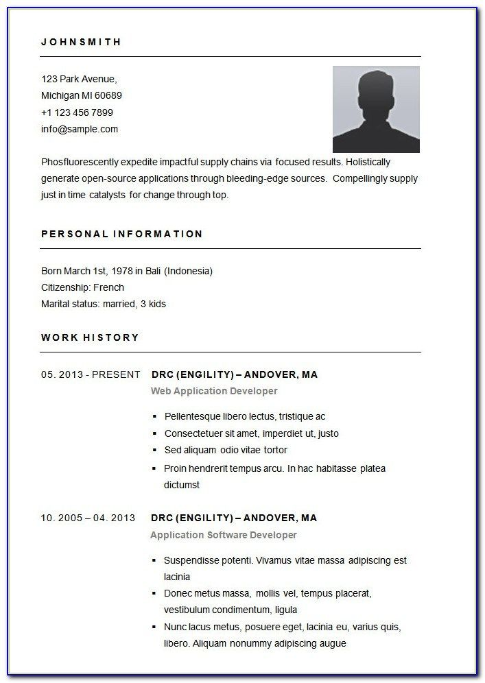 Basic Resume Template Download In 2020 Downloadable Resume Template Basic Resume Resume Template