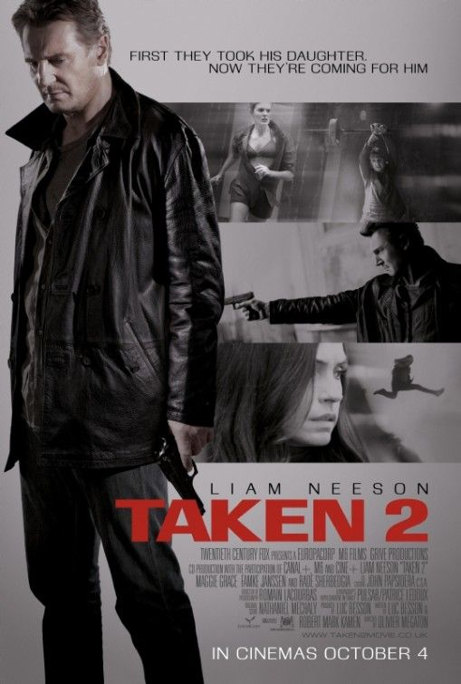 """Taken 2    It's hard to believe that it has been four years since Liam Neeson uttered the words, """"I don't know who you are, but if you don't let my daughter go, I will find you. I will kill you,"""" but it has. In """"Taken,"""" Neeson played a retired CIA agent who traveled abroad to rescue his daughter who was kidnapped on her trip to Paris."""