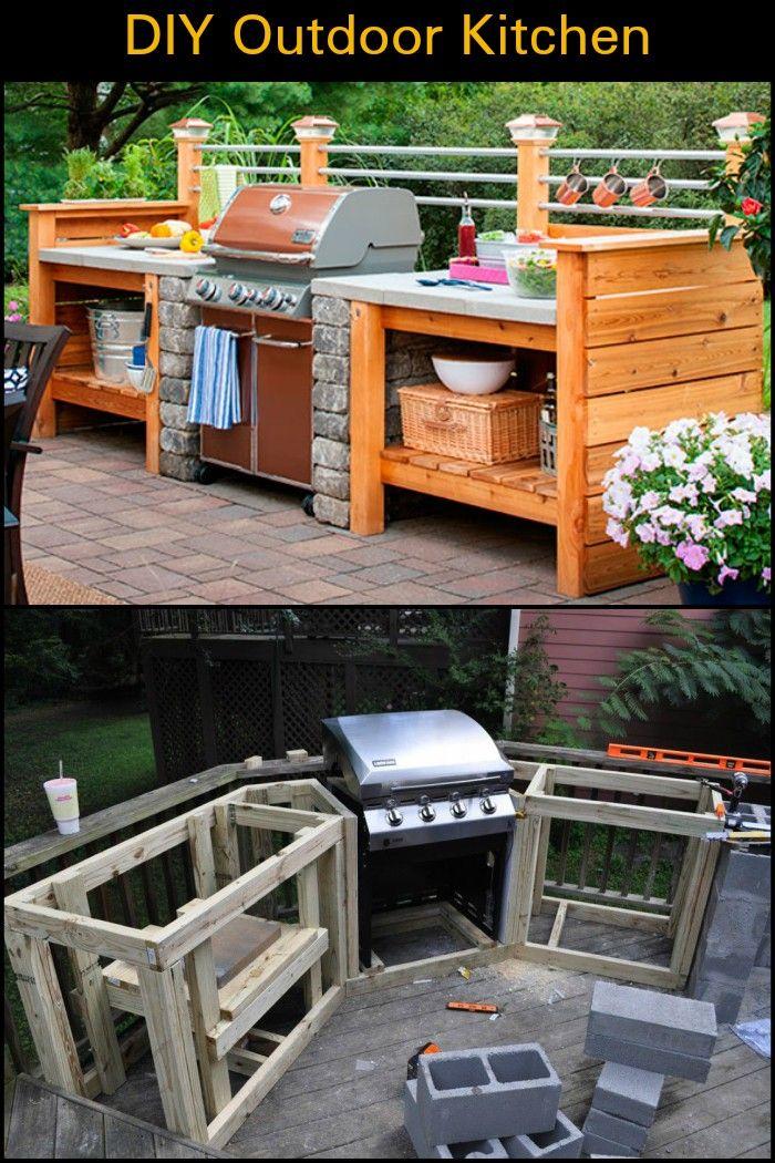 DIY Outdoor Kitchen   Backyard ideas   Diy outdoor kitchen ...