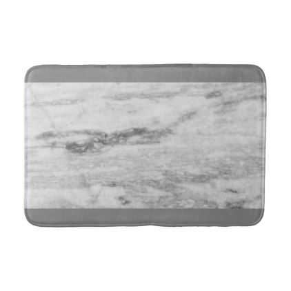 Stylish Gray Marble Print Bathroom Mat - stylish gifts unique cool diy customize