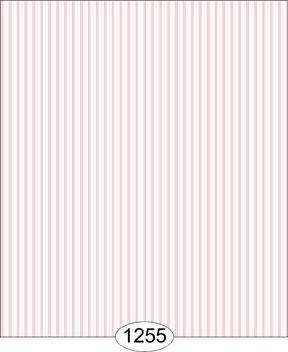 Wallpaper - Shirt Stripe - Pink on White