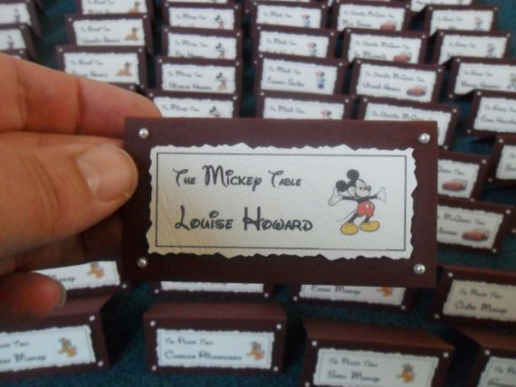 Disney Themed Wedding Place Names Ivory and by JamButtyCrafts, £0.60