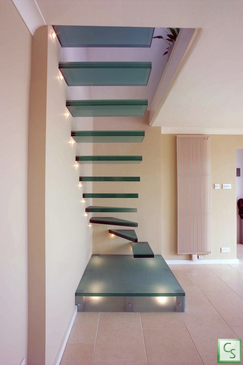Floating Glass Stairs?? Amazing!