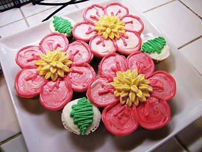 Flower Cupcake Cake for a Teacher's Birthday