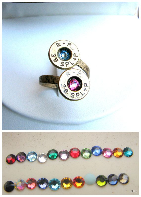 Bullet Ring- Birthstone Ring- Personalized- Couples Ring ...