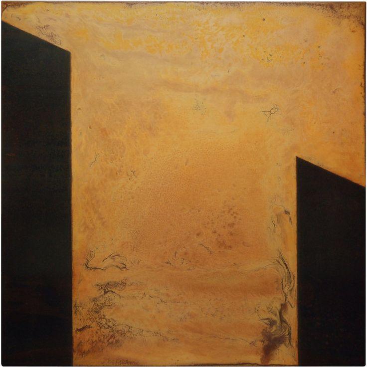 Rust Painting 15 by Amer www.amer-art.com #artonmetal #rustart #oxidationart #amerrust