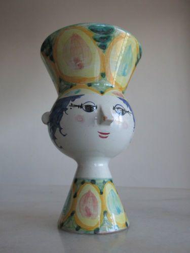 vintage Bjorn Wiinblad head vase